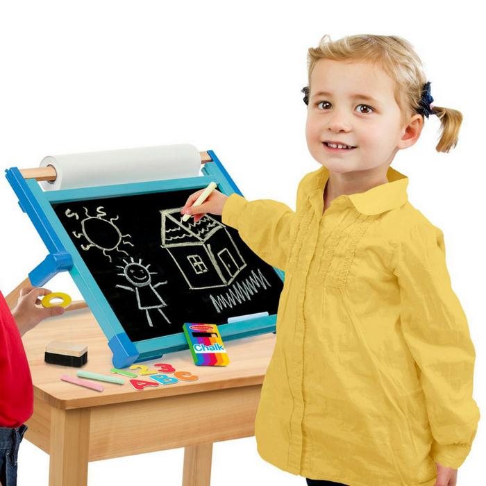 Melissa & Doug Double-Sided Magnetic Tabletop Art Easel Just $19.98! Down From $40!