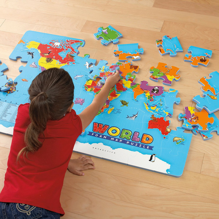 Educational Insights World Foam Map Puzzle Just $8.09! Down From $21!