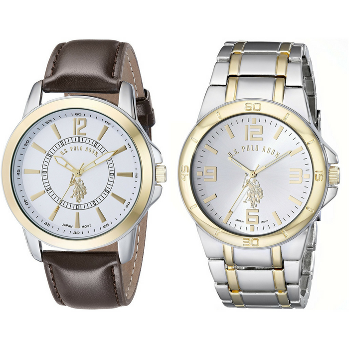 Men's Two-Tone Watches Set Of Two Just $29.99! PLUS FREE Shipping!