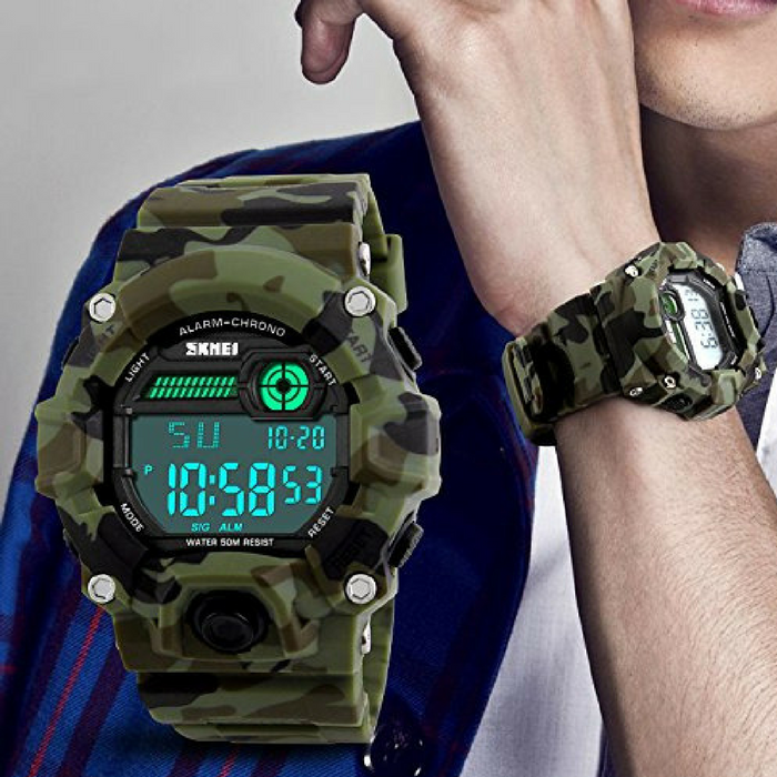 Boys Camouflage LED Sport Watch Just $13.59! Down From $59!