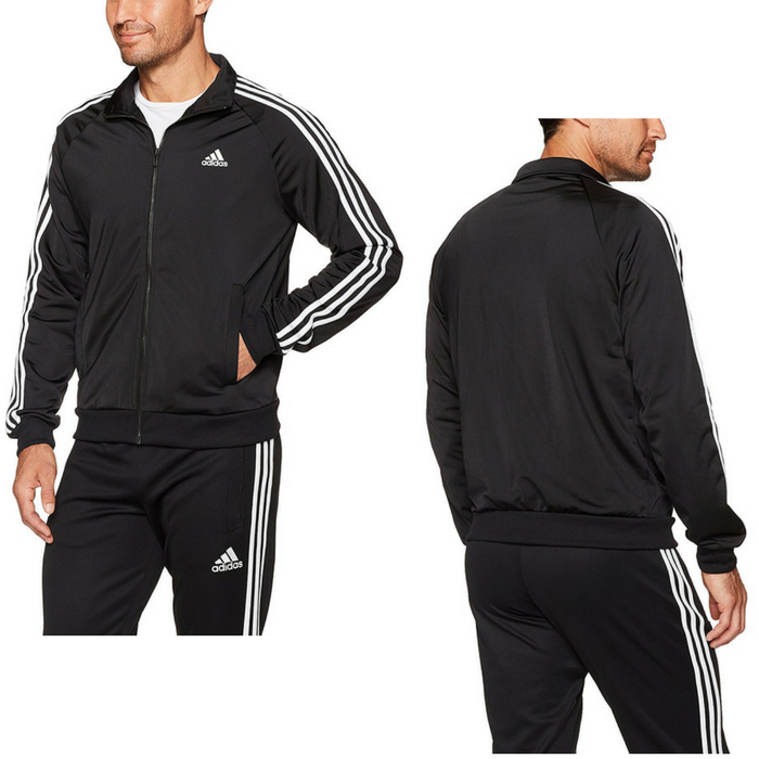 Adidas Men's Essentials 3-Stripe Tricot Track Jacket Just $24.99! Down From $50!