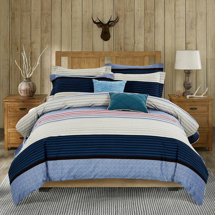 Microfiber Striped Duvet Cover Set Just $25.99! PLUS FREE Shipping!