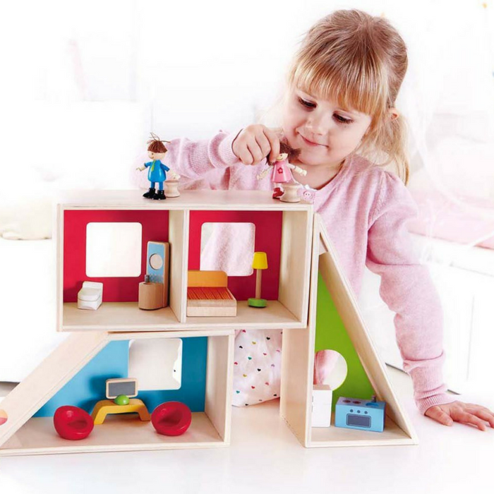 Hape Geometrics Kid's Wooden Doll House Just $34.71! Down From $60! PLUS FREE Shipping!
