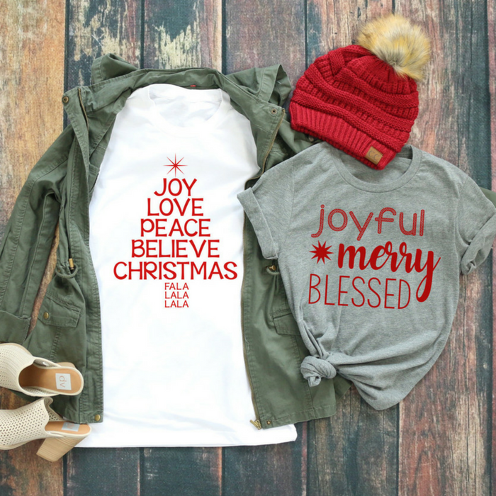 Joyful Christmas Tees Just $13.99! Down From $28!