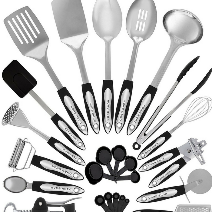 Stainless Steel Kitchen Utensil 24-Piece Set Just $39.99! PLUS FREE Shipping!