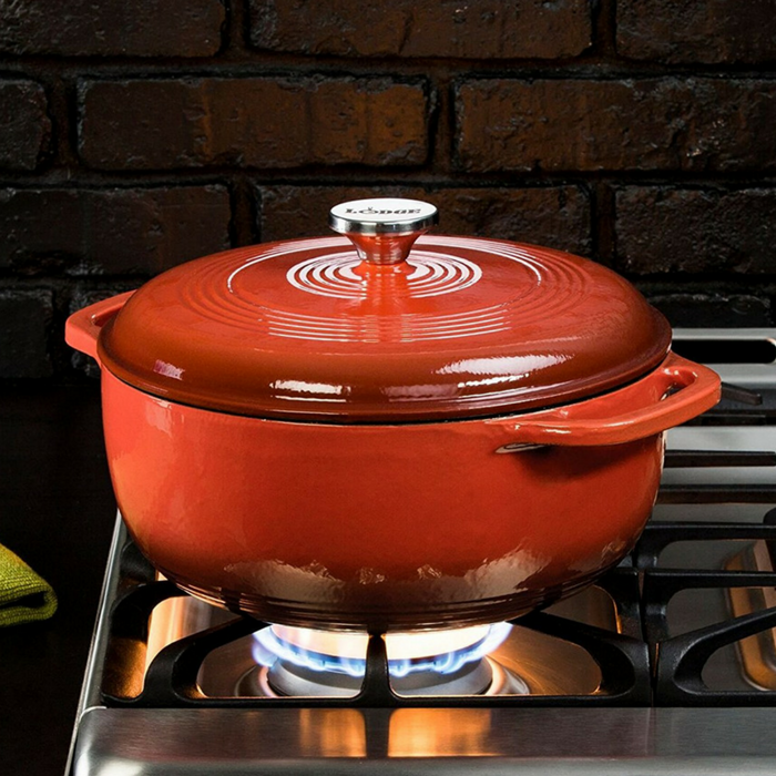 Lodge 6-Quart Cast Iron Dutch Oven Just $59.80! Down From $115! PLUS FREE Shipping!