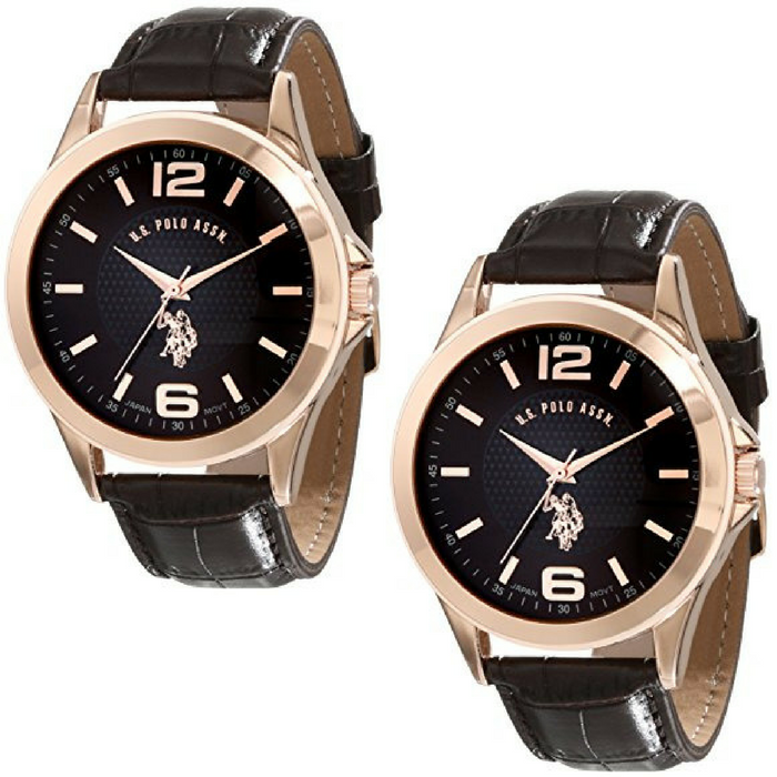 U.S. Polo Classic Men's Rose Gold-Tone Watch Just $19.99! Down From $39!