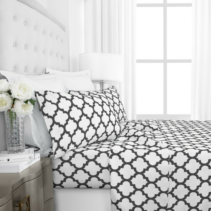 Hotel Collection Quatrefoil Pattern Bed Sheet Set Just $21.99!
