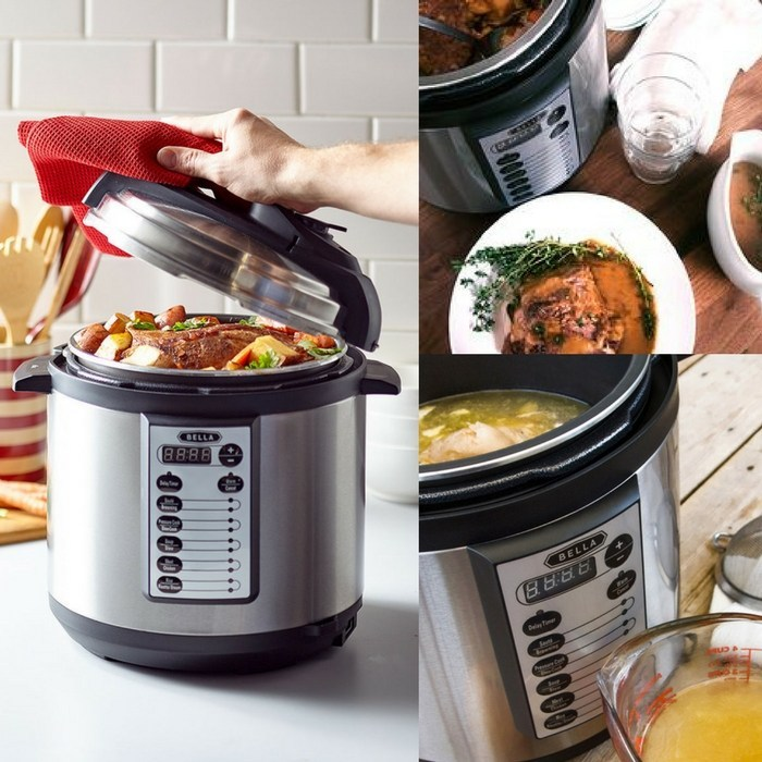 Bella 6-Quart Pressure Cooker Just $39.99! Down From $80! PLUS FREE Shipping!