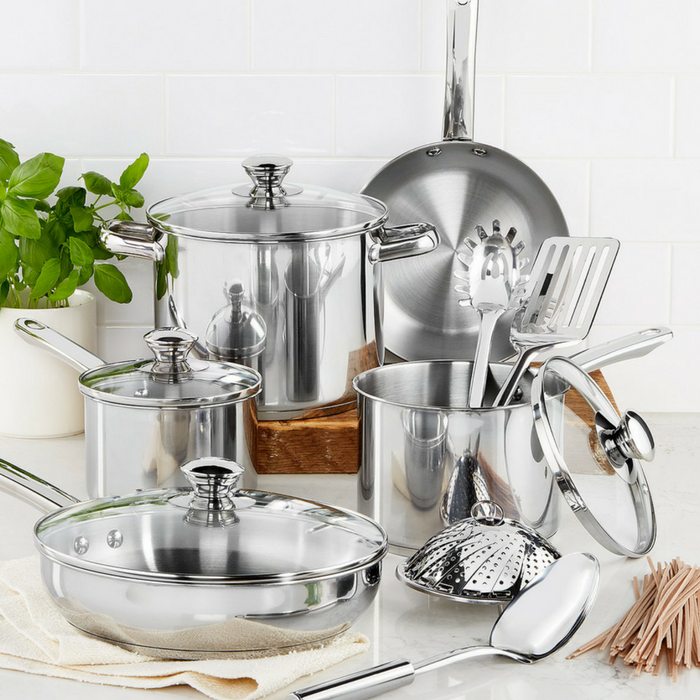 Tools Of The Trade Stainless Steel 13-Piece Cookware Set Just $24.99! Down From $120!