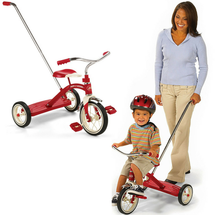 Radio Flyer Classic Tricycle With Push Handle Just $41.99! Down From $90! PLUS FREE Shipping!