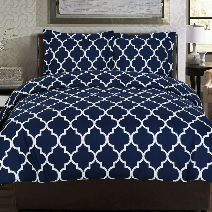 Printed Queen-Sized Duvet Cover Set Just $18.99! Down From $40!