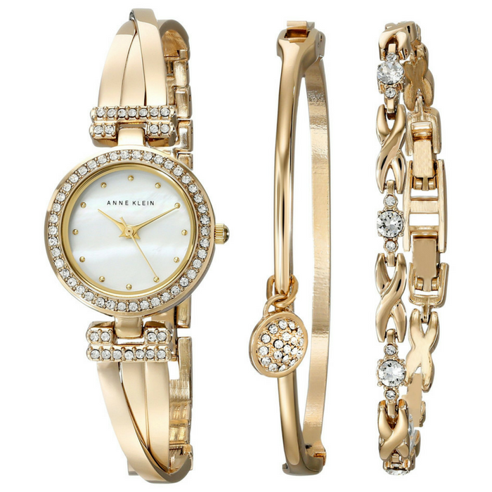 Anne Klein Goldtone Crystal Bangle Box Set Just $90! Down From $150! PLUS FREE Shipping!