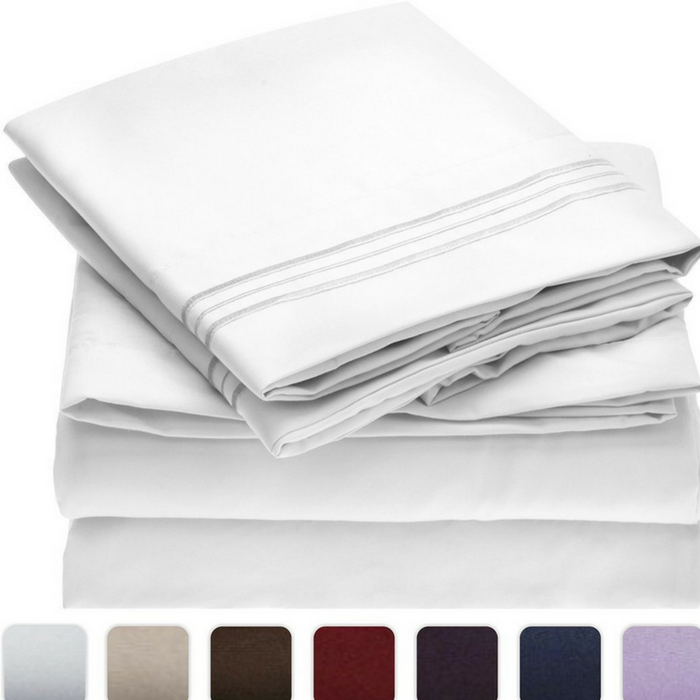 Mellanni 4-Piece Bed Sheet Set Just $24.70! Down From $60!