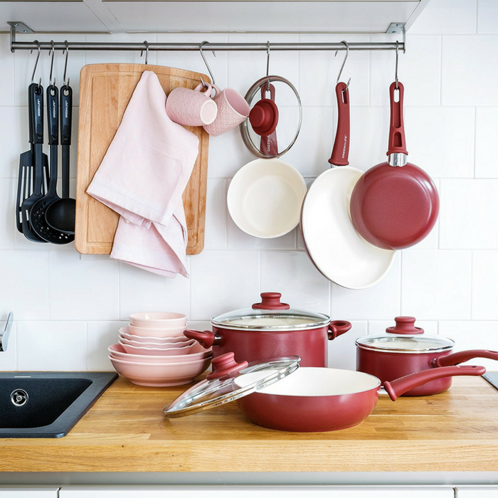 GreenLife 16-Piece Ceramic Non-Stick Cookware Set Just $49! Down From $86! PLUS FREE Shipping!
