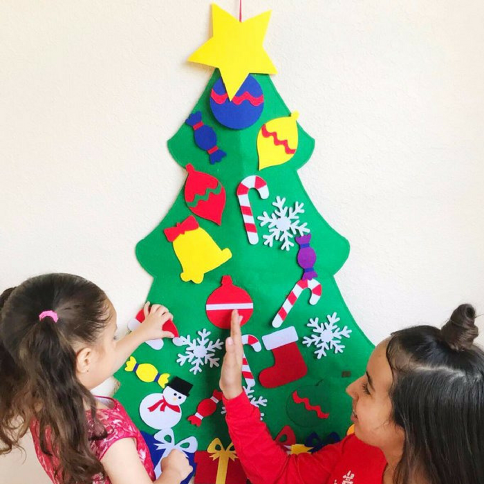 Felt Christmas Tree With Ornaments Just $19.99! Down From $40!