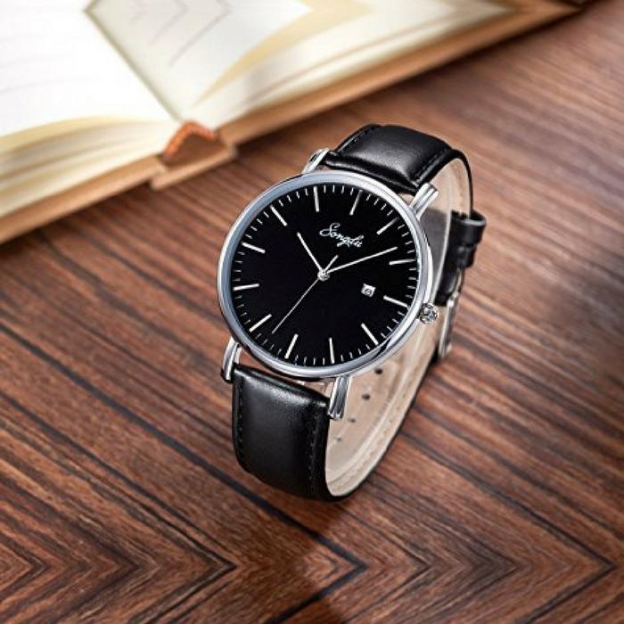 Men's Ultra-Thin Quartz Wrist Watch  Just $23.78!