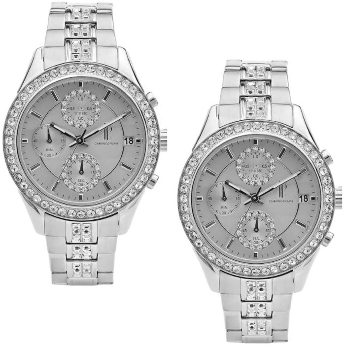 J. Lo Women's Crystal Stainless Steel Chronograph Watch Just $43.65! Down From $115! PLUS FREE Shipping!