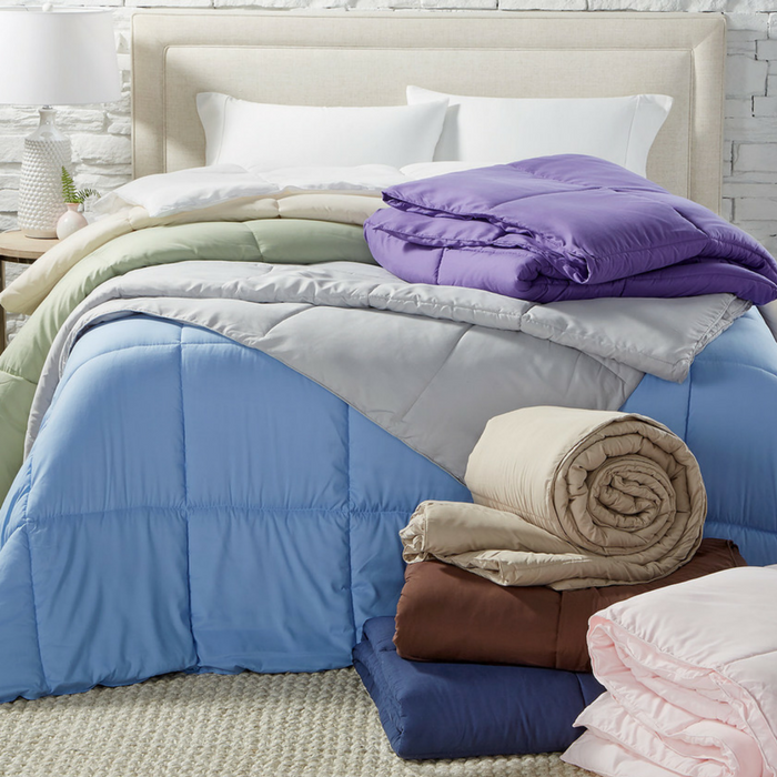 Lightweight Microfiber Down Alternative Comforter Just $19.99! Down From $100!