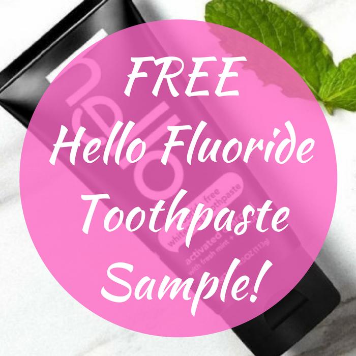 FREE Hello Fluoride Toothpaste Sample!