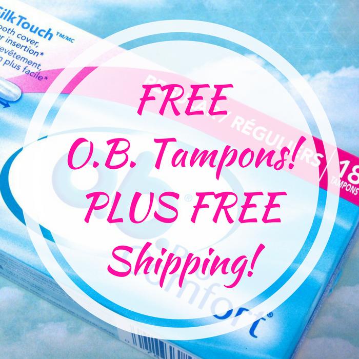 FREE O.B. Tampons! PLUS FREE Shipping!