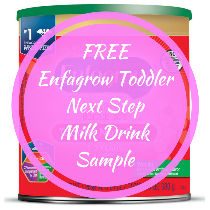 FREE Enfagrow Toddler Next Step Milk Drink Sample!