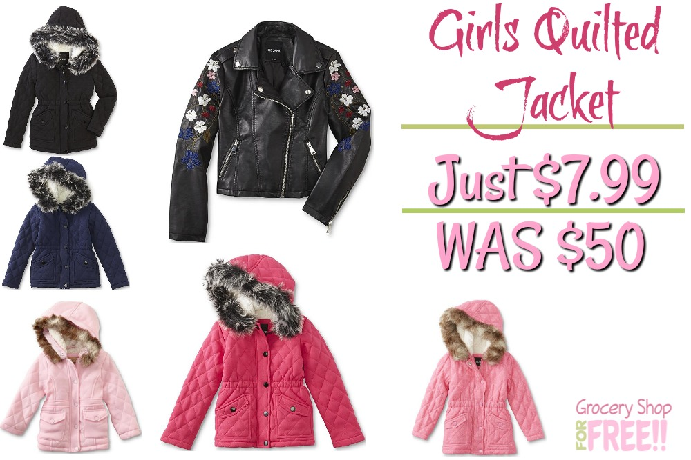 Girl's Hooded Quilted Jackets Just $7.99! Down From $50!