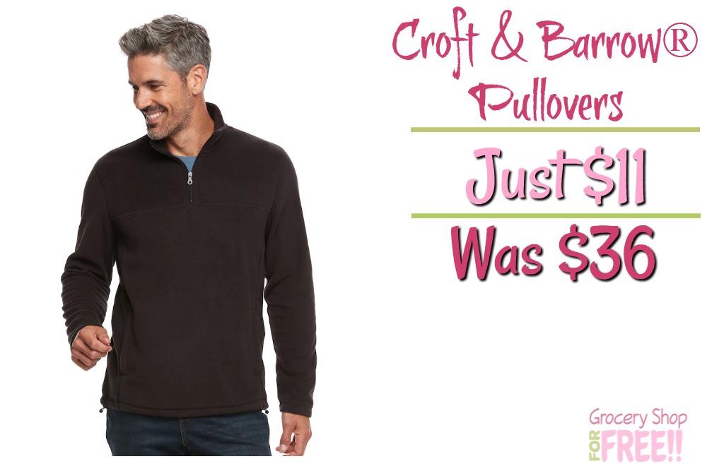 Men's Croft & Barrow® Arctic Fleece Quarter-Zip Pullovers Just $11! Down From $36!