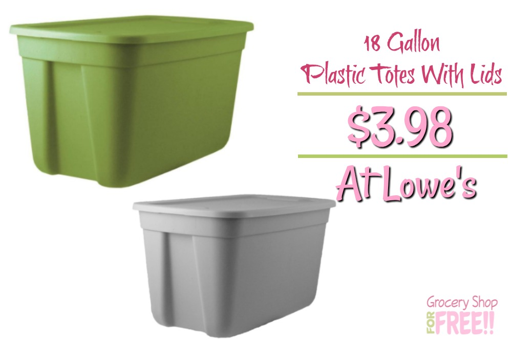 18 Gallon Plastic Totes With Lids Just $3.98!