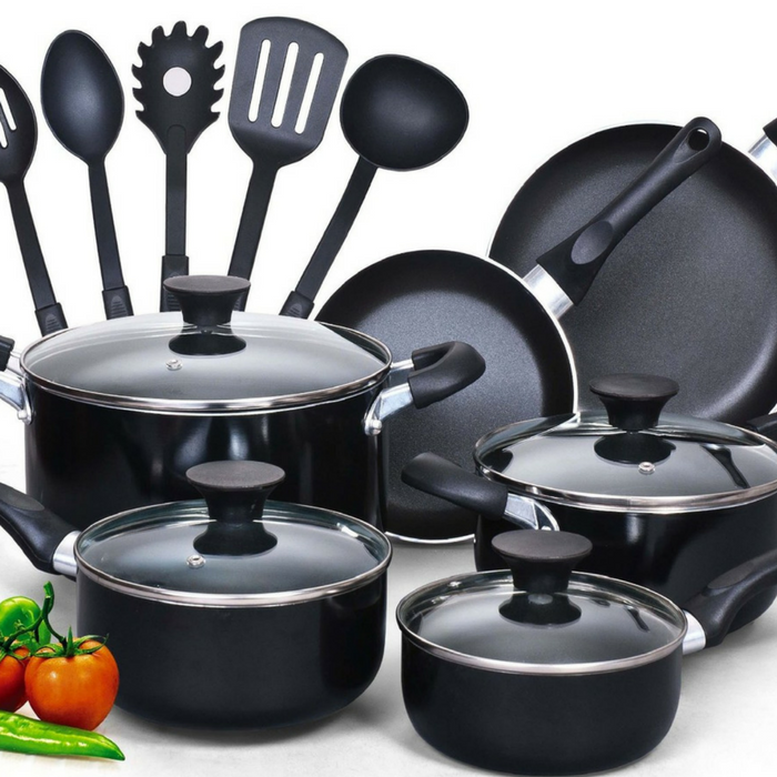 15-Piece Nonstick Cookware Set Just $45.99! Down From $70! PLUS FREE Shipping!