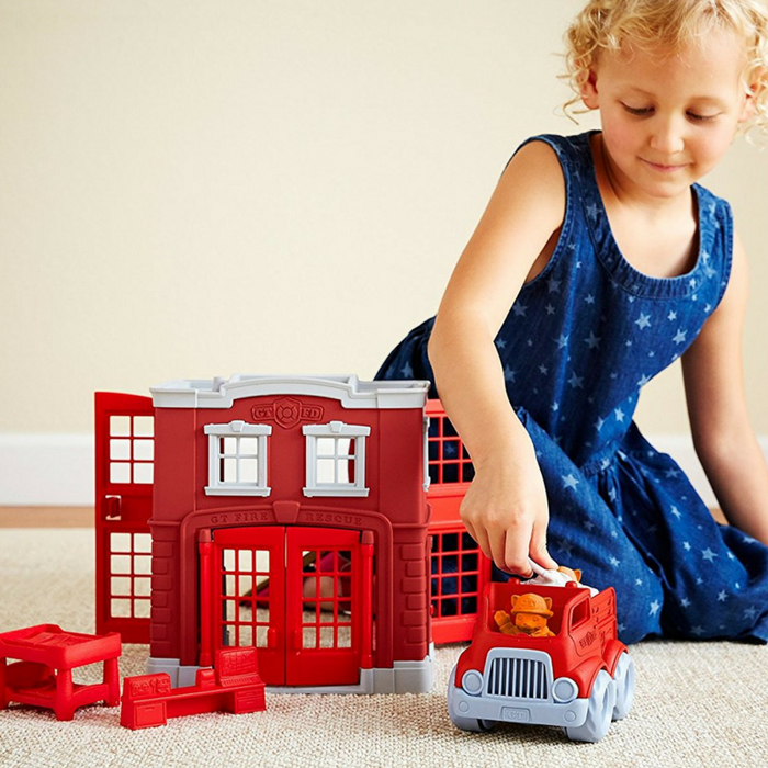 Green Toys Fire Station Playset Just $19.52! Down From $50!