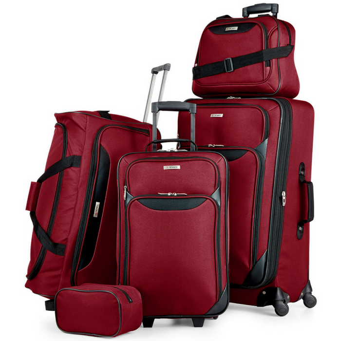 5-Piece Luggage Set Just $59.99! Down From $200! PLUS FREE Shipping!