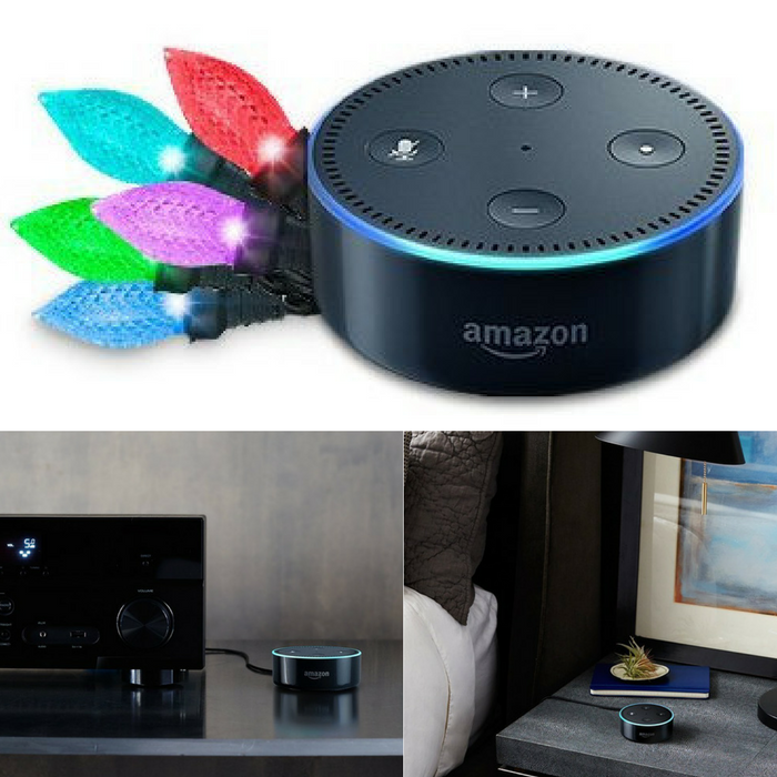 Echo Dot + Light Rhapsody Holiday Lights Just $49.99! Down From $110! PLUS FREE Shipping!