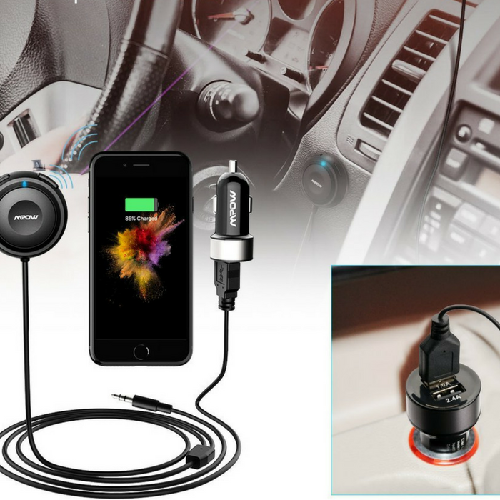 Mpow Bluetooth Receiver & Car Charger Just $25.99! Down From $54! PLUS FREE Shipping!