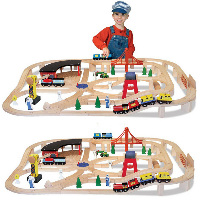 Melissa & Doug Wooden Train Set Just $77.99! Down From $130! PLUS FREE Shipping!