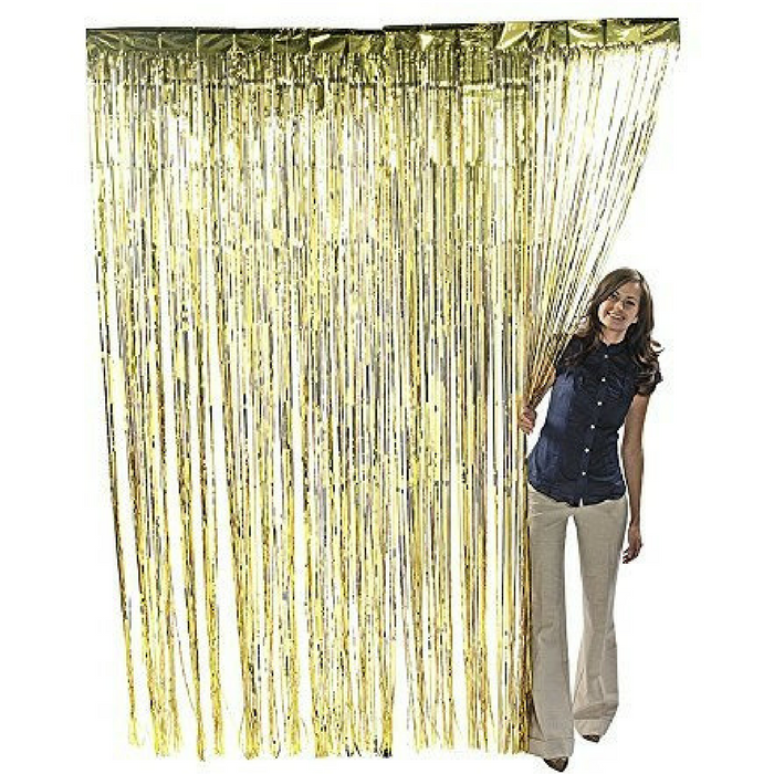 Metallic Gold Curtain Just $5.99! Down From $12!