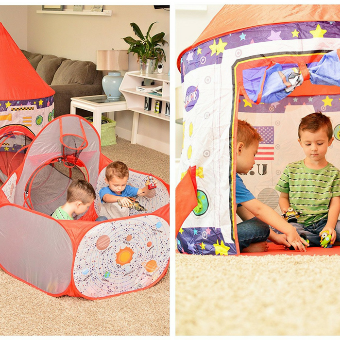 3-Piece Rocket Ship Play Tent Just $47.95! Down From $100! PLUS FREE Shipping!