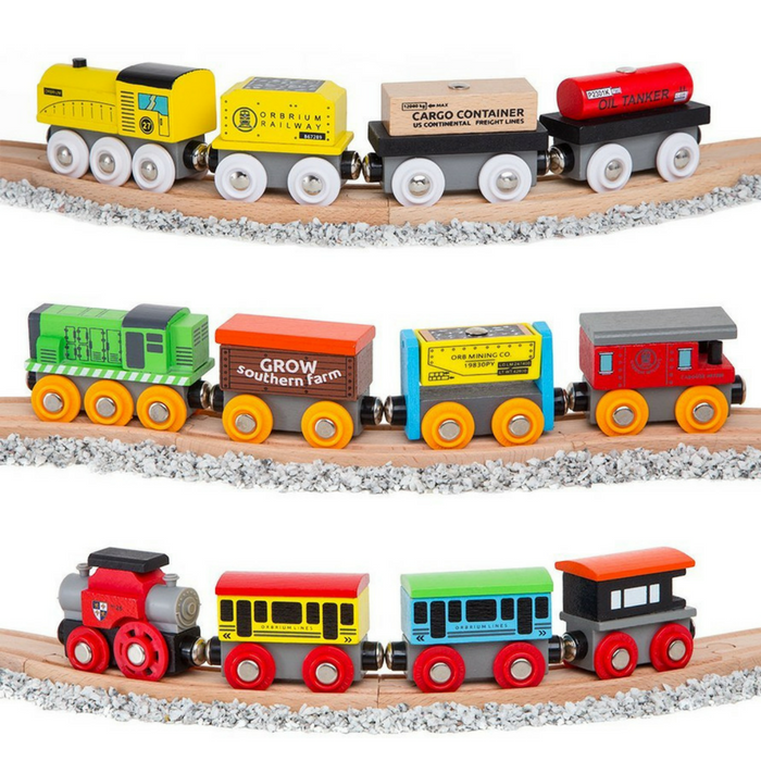 12-Piece Wooden Engines Set Just $19.99! Down From $45!