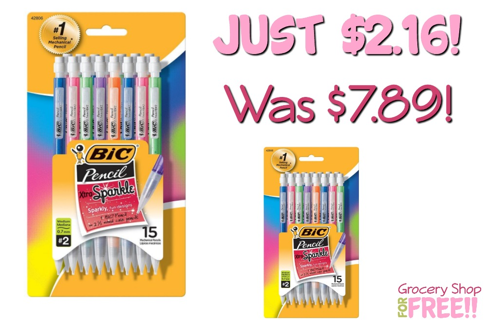 BIC Xtra Sparkle 15-Pack Mechanical Pencils Just $2.16! Was $7.89!