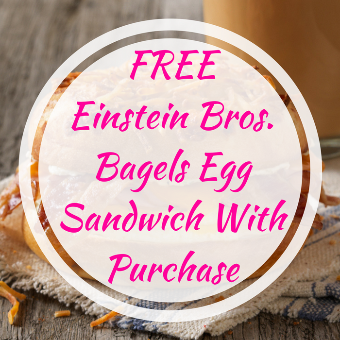 FREE Einstein Bros. Bagels Egg Sandwich With Purchase!