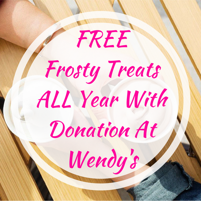 FREE Frosty Treats ALL Year With Donation At Wendy's!
