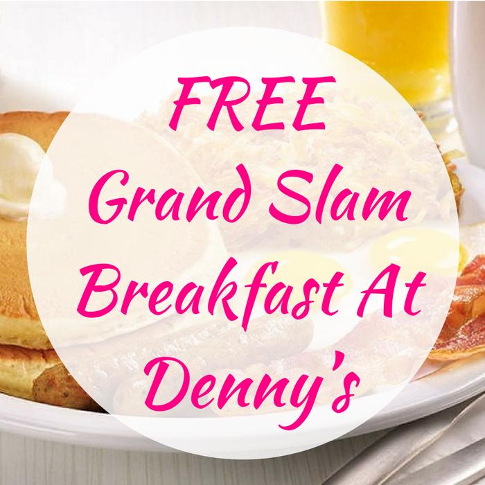 FREE Grand Slam Breakfast At Denny's!