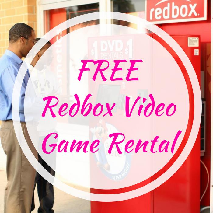 FREE Redbox Video Game Rental!