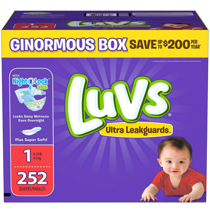Luvs Diapers Ginormous Boxes Just $19.98! PLUS FREE Shipping!