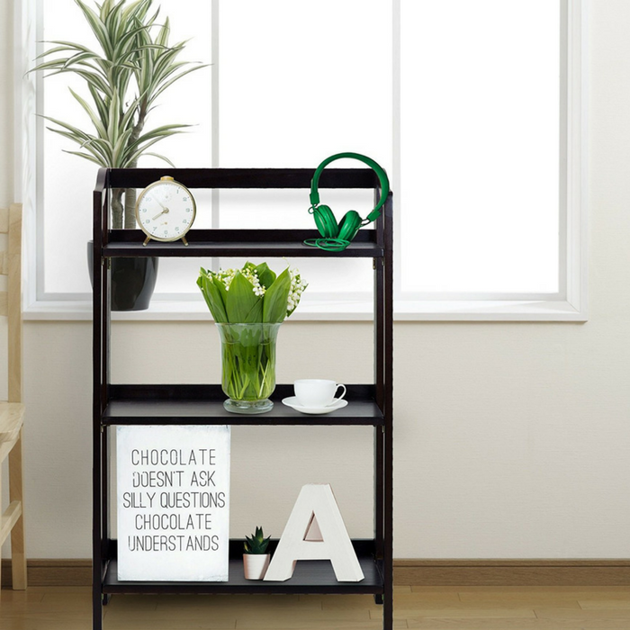 3-Shelf Folding Bookcase Just $35.99! Down From $118! PLUS FREE Shipping!