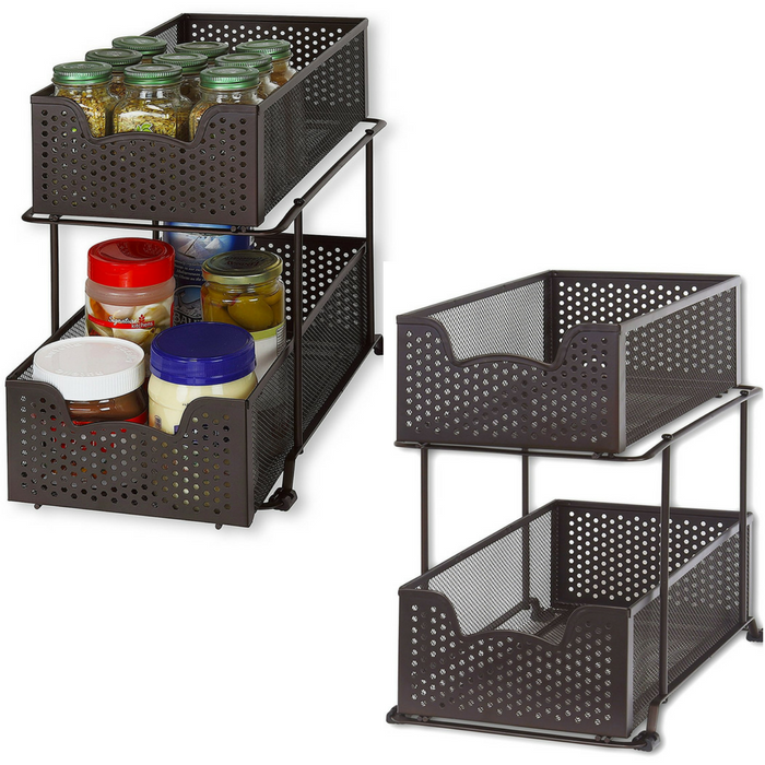 2-Tier Basket Organizer Just $22.87! Down From $40!