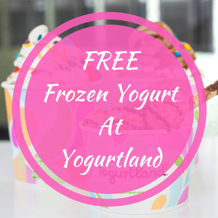 FREE Frozen Yogurt At Yogurtland!