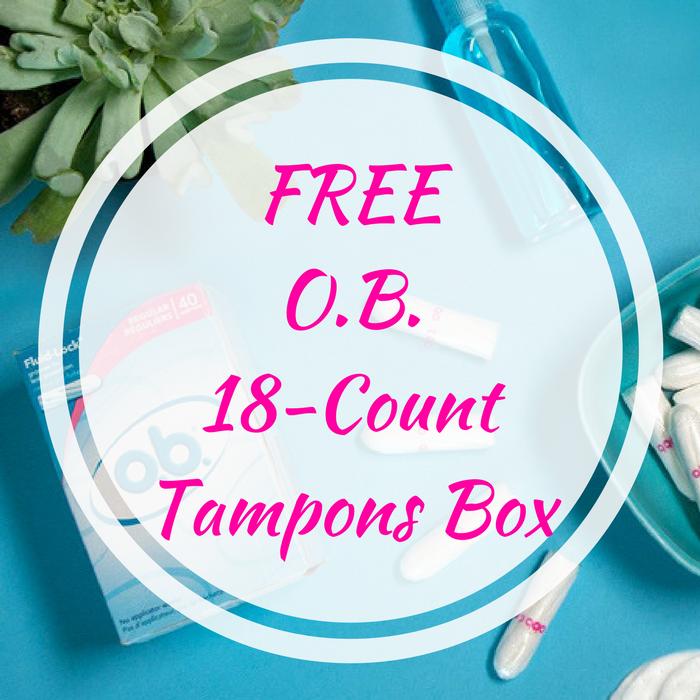 FREE O.B. 18-Count Tampons Box!