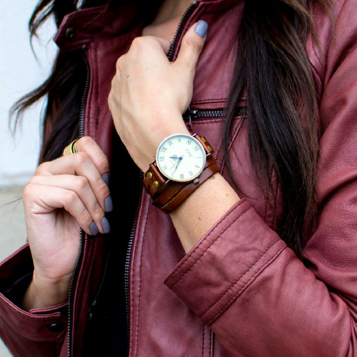 Vintage Leather Wrap Watches