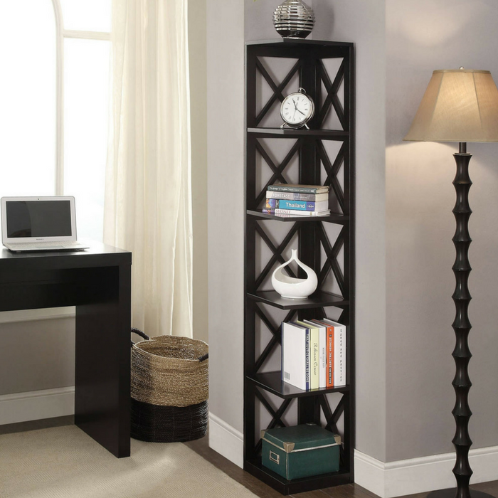 5-Tier Corner Bookcase